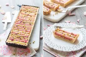 reduction cuisine addict rhubarb pistachios pie cuisine addict de cuisine