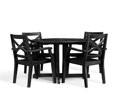 Black Dining Table With Leaf Hampstead Painted Round Drop Leaf Dining Table U0026 Chair Set Black