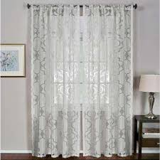 Picture Window Drapes White Polyester Sheer Curtains U0026 Drapes Window Treatments