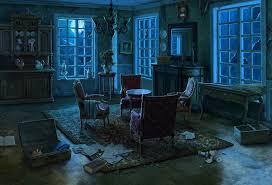 artstation manor living room background and miniscenes for