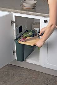 indoor composting bin for transferring to outside bin slimline