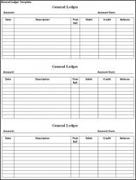 Free Ledger Template by General Ledger Template Free Formats Excel Word
