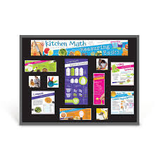 kitchen math measuring basics bulletin board kit