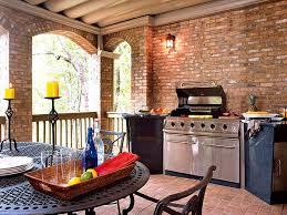 grilling porch brick wallpaper interior design video and photos