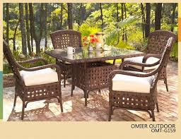 outdoor wicker dining table high grade 5 piece wicker dining furniture garden rattan package