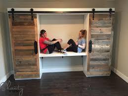 Door Desk Diy Study With Sliding Barn Doors As Seen On Hgtv S Open