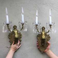 Vintage Crystal Sconces Antique Crystal Sconces Ebay
