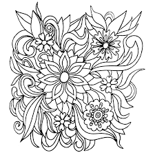 colors of nature colouring book flowers coloring pages