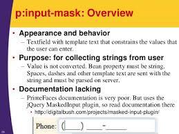 tutorial java primefaces jsf 2 tutorial more primefaces input elements