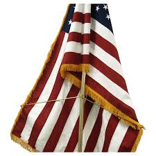 Displaying The Us Flag Flag Spreader For Indoor Flag