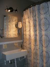 free bathroom design online with beautiful textile shower curtain