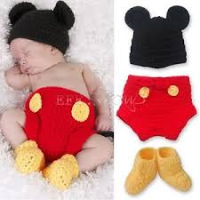 Mickey Mouse Halloween Costumes 3pcs Baby Boy Mickey Mouse Halloween Costume Crochet Knit