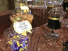purple u0026 gold wedding candy buffet great service fresh candy in