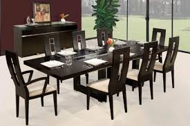 contemporary black dining room sets amazing black dining table with chair sets for modern style dining