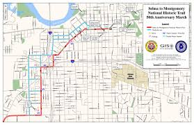 Montgomery Mall Map Honoring The Selma To Montgomery Voting Rights March Montgomery