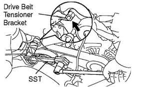 2001 toyota rav4 serpentine belt replacement engine mechanical