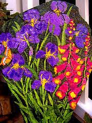 hand painted flower u0026 fairy rocks hand painted garden flower rocks