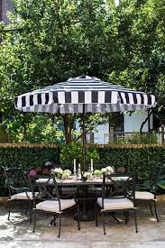 Black And White Patio Umbrella Outdoor Umbrellas Chic Patio Inspiration The Well Appointed