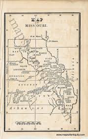 Map Missouri Map Of Missouri Antique Maps And Charts U2013 Original Vintage
