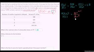 Table To Equation Writing Exponential Functions From Tables Algebra Video Khan