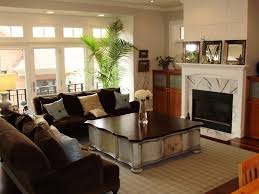 Furniture Wood Floor  Window In Family Room Color Theme With - Family room in french