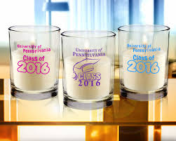 personalized candle favors graduation personalized candle favors clear glass