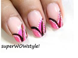 french manicure nail art easy nail designs in french tip youtube