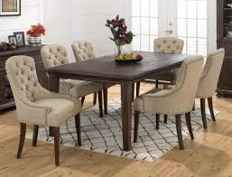 Brown Leather Dining Chairs With Nailheads Chair Dining Chairs With Nailheads Studio Dylin Modern And