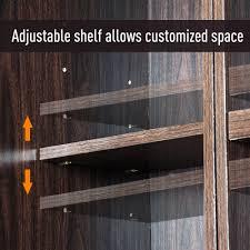 homcom kitchen pantry cupboard wooden storage cabinet organizer shelf white homcom 72 wood free standing kitchen pantry organizer storage cabinet espresso
