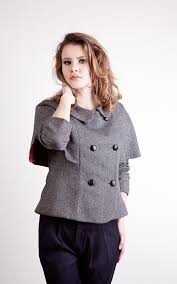 cute jacket pattern watson jacket woven fabric capelet and peter pan collars