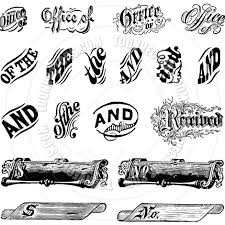 vector vintage letter ornament set by createfirst vectors