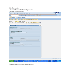 individual purchase order configuration document erp sap ecc