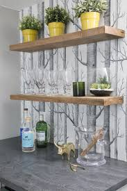 Kitchen Bookcase Ideas by Best 25 Wallpaper Shelves Ideas On Pinterest Diy Bedroom Decor
