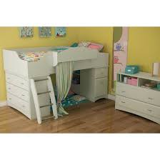 Twin Beds With Drawers Imagine Storage Loft Kids Bed White Twin South Shore Target