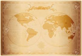Free Vector World Map by Old World Map With Vintage Paper Texture Vector Format Royalty