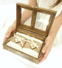 Country Shabby Chic Wedding by Wedding Ring Pillow Ring Bearer Pillow Box Rustic Chic Pillow