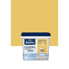 peinture cuisine jaune peinture cuisine et bain ripolin jaune peské 0 75 l leroy merlin