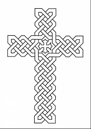 remarkable printable crosses clip art with cross coloring page