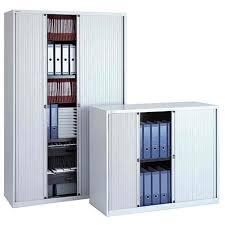 armoire à rideau bureau amoire à rideaux 2 étagères gris lumière achat vente