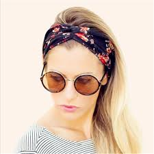 headbands for women 1pc floral print hair elastic turban twisted knotted headbands for