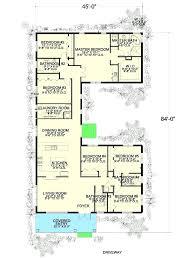 u shaped houses u shaped house plans with courtyard free plan u shaped house plans