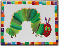 the very hungry caterpillar 11x14 wall canvas hand painted wall