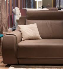 Real Leather Recliner Sofas by 8030 Power Reclining Sofa In Taupe Genuine Leather
