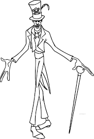 disney the princess and the frog dr facilier cartoon coloring page