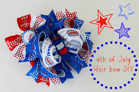 fourth of july hair bows let s make a stacked boutique hairbow 4th of july bow tutorial