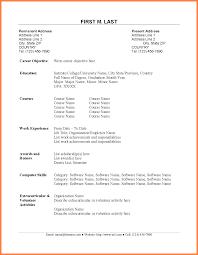Resume For Fresh Graduate Engineer Sample Application Letter For Fresh Graduate Engineer