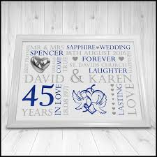 45 wedding anniversary 45th wedding anniversary gifts 2018 weddings
