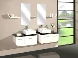 mirrors cosmopolitan solid black double square white drop in