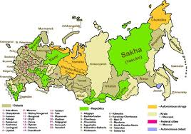 outline map of russia with cities outline of russia