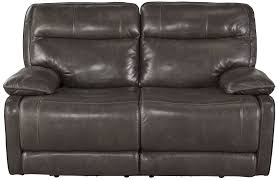 Power Reclining Sofa And Loveseat palladum metal power reclining living room set from ashley